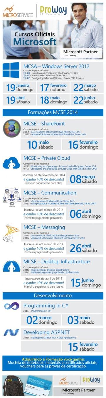 ProWay lança Calendário de treinamentos Microsoft em parceria com a Microservice