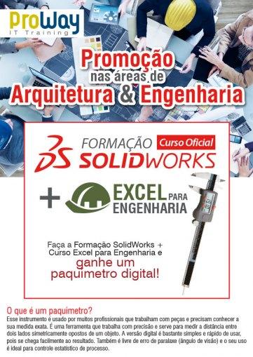 Promoção Excel para Engenharia + Formação SolidWorks = Paquímetro Digital