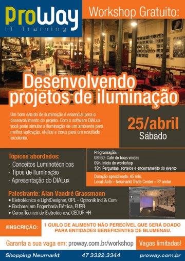 ProWay promove Workshop Gratuito: Desenvolvendo Projetos de Iluminação