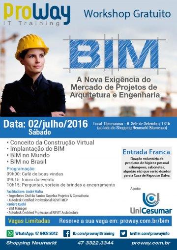 Workshop Gratuito: BIM – A Nova Exigência do Mercado de Projetos de Arquitetura e Engenharia
