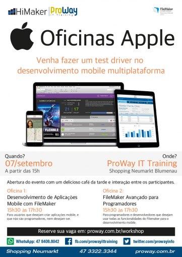 Aproveite o seu feriado de forma produtiva nas Oficinas Apple ProWay