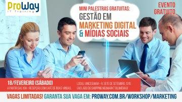 Mini Palestras Gratuitas: Gestão em Marketing Digital e Mídias Sociais