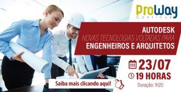 WorkShop Gratuito: AutoDesk: Novas Tecnologias Voltadas para Engenheiros e Arquitetos