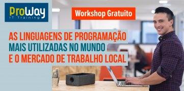 Workshop Gratuito: As linguagens de programação mais utilizadas no mundo e o mercado de trabalho local