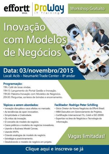 Effortt Brasil e ProWay formalizam parceria para oferecer treinamentos em Gestão e Inovação e promovem Workshop Gratuito aberto ao público