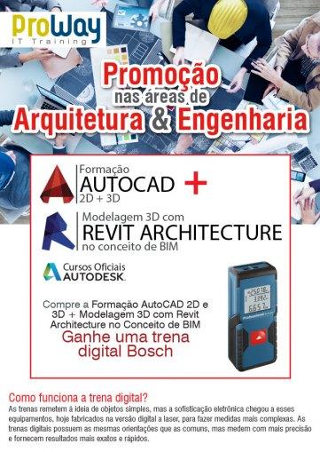 Promoção Formação AutoCad + Modelagem 3D com Revit Architecture