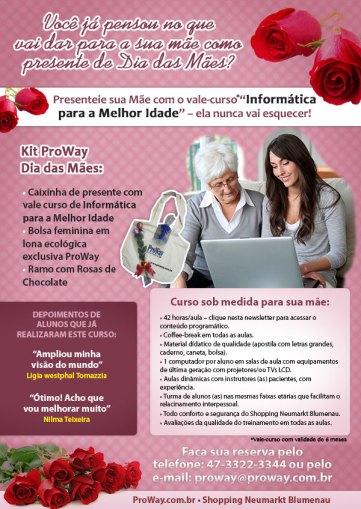 ProWay lança Promoção para Dia das Mães 2014