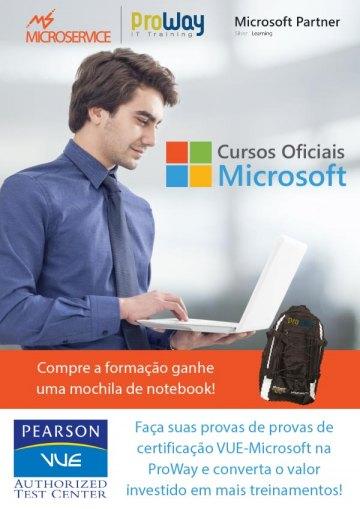 Vantagens para Treinamentos Oficiais Microsoft