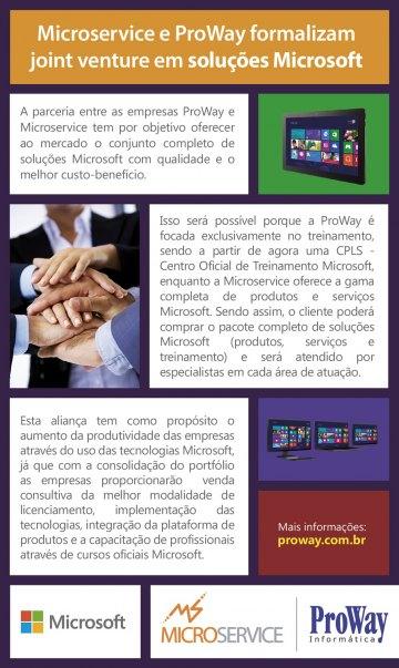 Microservice e ProWay formalizam joint venture em soluções Microsoft