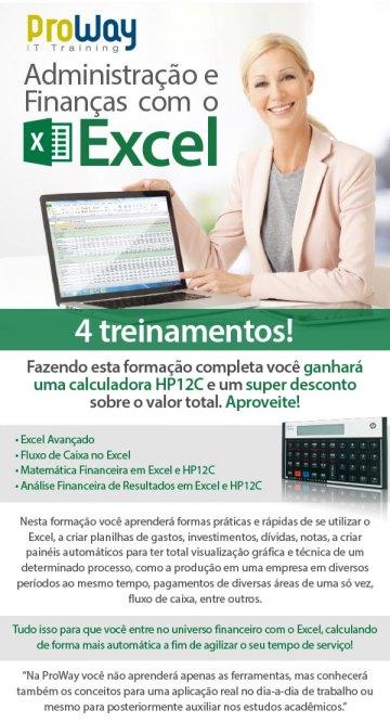 Faça Administração e Finanças no Excel e ganhe uma calculadora HP12C!
