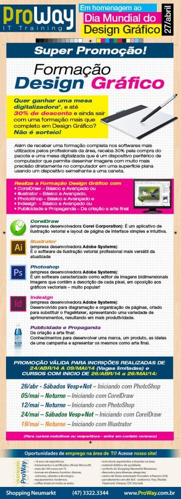 Dia 27 de abril - Dia Mundial do Design Gráfico!